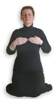 Reiki Hand Positions - Position 10