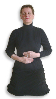 Reiki Hand Positions - Position 6