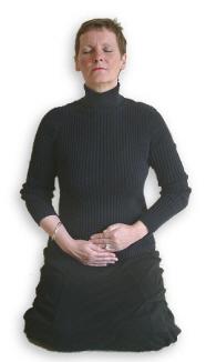 Reiki Hand Positions - Position 7